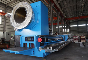 CNC Oil Country Lathe: the headstock is big enough for large spindle and large spindle bearings